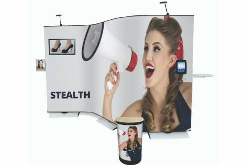 Modulares Bannersystem Stealth 3,6m x 2m inkl. Druck