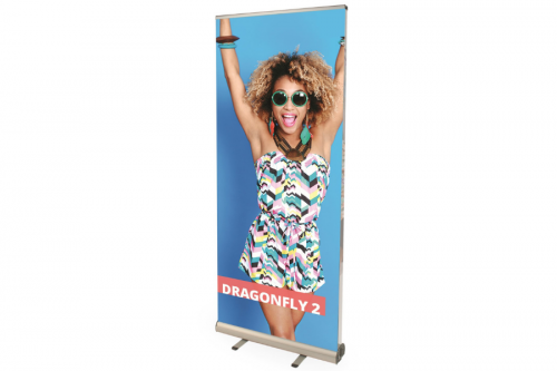 Doppelseitiger RollUp Banner Dragonfly 850mm inkl. Druck