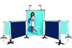 Messedisplay Aero 3,5m x 2m inkl. Digitaldruck